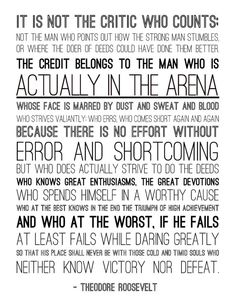 teddy roosevelt quotes man in the arena