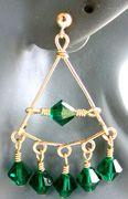 Emerald Chandelier Earrings Jewelry Making Project