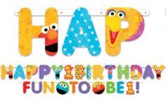 Sesame Street 1st Birthday Banner - Party City