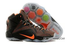 outlet store 7ef98 286ad Buy New Nike Lebron Xii P. Elite Mens Black With Orange Mesh from Reliable  New Nike Lebron Xii P. Elite Mens Black With Orange Mesh suppliers.