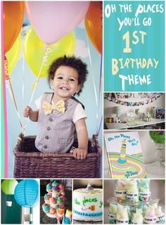 Oh the places you'll go party theme. First birthday or graduation theme idea.