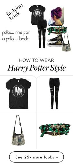"""""""My style"""" by dracomalfoycx on Polyvore featuring Miss Selfridge and Converse"""
