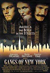 Gangs of New York 紐約黑幫 by Martin Scorsese, starring Leonardo Dicaprio, Daniel Day-Lewis Martin Scorsese, New York Poster, Leonardo Dicaprio Movies, New York Movie, Brendan Gleeson, Gangs Of New York, Gangster Movies, New Cinema, New York City