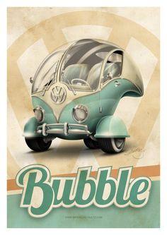 Volkswagen Bubble ~ De volta ao retrô