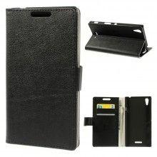 Capa Livro Sony Xperia T3 Magnetica Stand Preta 7,99 €