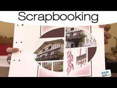 Réaliser une page de scrap - YouTube