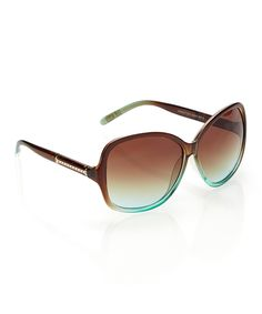 Another great find on #zulily! Brown Ombré Drop-Temple Sunglasses by Steve Madden #zulilyfinds