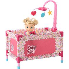 Baby Alive Play Yard Click n Monitor With Mobile For Baby Alive Doll Gift Set Little Girl Toys, Baby Girl Toys, Toys For Girls, Kids Toys, Baby Alive Doll Clothes, Baby Alive Dolls, Baby Dolls, Muñeca Baby Alive, Baby Doll Furniture
