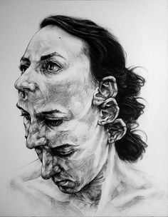 David Theron, charcoal and conté on paper {figurative art male head portrait drawing} davidtheron. Life Drawing, Drawing Faces, Paper Drawing, Drawing Art, Inspiration Art, Art Inspo, L'art Du Portrait, Self Portrait Drawing, Drawing Portraits