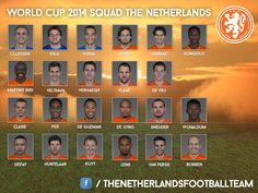 World Cup 2014 Squad of The Netherlands.