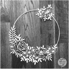 50% SALE Blank Flower Circle SVG PDF от TommyandTillyDesign