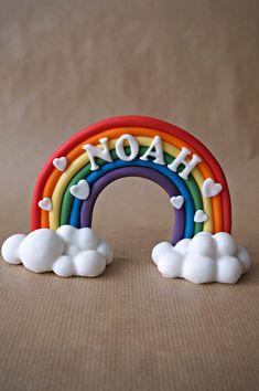 Fondant Rainbow Cake Topper Fondant Name Rainbow With