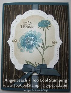 Field Flowers - Woodgrain by Angie Leach - Cards and Paper Crafts at Splitcoaststampers