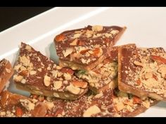 "VIDEO ""Almond Roca""....homemade almond toffee with chocolate - Part 1"