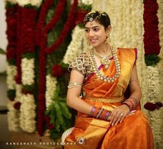 Stunning South Indian Bride Wearing ‪#‎BridalSilkSaree‬ and Jewellery