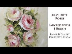 One stroke painting for beginners.One stroke painting techniques. Rose Oil Painting, Acrylic Painting Flowers, Simple Acrylic Paintings, Acrylic Painting Techniques, Painting Lessons, Acrylic Painting Canvas, Watercolor Paintings, Daisy Painting, Watercolor Techniques