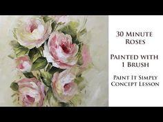 30 Minute Roses with 1 Brush - YouTube David Jansen