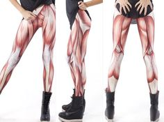 Muscle Leggings - these actually exist. talk about making it easy on your massage therapist
