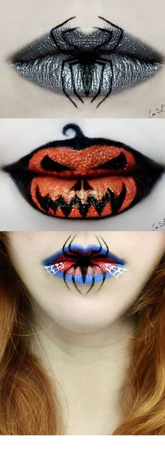 Eva Senín Pernas, the Spanish makeup artist and photographer has created some jaw-dropping designs using makeup on lips, and they're super-spooky Halloween-themed. Check out some of her incredible cr (Beauty Nails Logo)