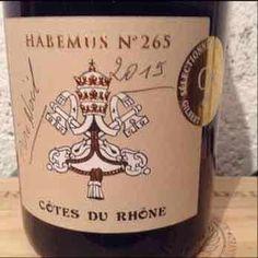 Habemus N°265 - France - Côtes-du- Rhône - 2015 #mywinebook #vin #wine #vino - http://appstore.com/mywinebook