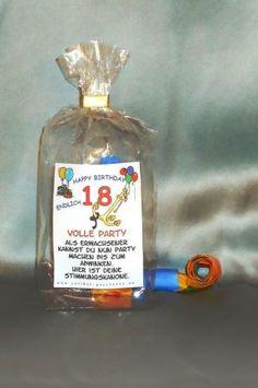 SOS*1. Hilfe Korb* zum 18 Geburtstag 18x Spass *lustig* | eBay