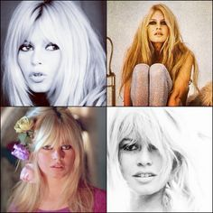 Loving Bridget Bardot's hair, beautiful hairstyle icon.