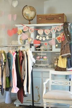 Clothing swap decor