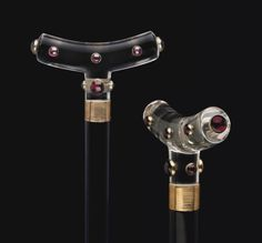 A CONTINENTAL GILT-METAL MOUNTED ROCK CRYSTAL AND RUBY GLASS CANE   CIRCA 1900   All other categories of objects, crystal   Christie's