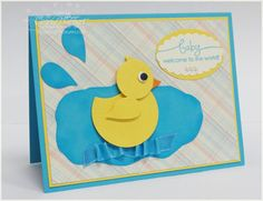 Stampin' Up! Punch Art Connie Babbert Baby Duck