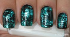 Nails - different than the crackle look, nail foils - only for the wedding i would do a pink and black...just might order some foil and try it out!