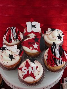 Cheerleading cupcakes By patisseriejaja on CakeCentral.com