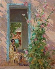 Joseph Henry Sharp, A Sunny Day in Taos,