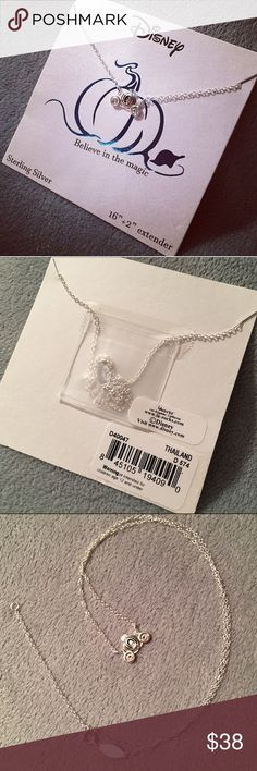 """Disney Cinderella Carriage 925 Silver Necklace Adorable Cinderella carriage necklace by LA Rocks for Disney. 16"""" Sterling silver chain + 2"""" extender, marked 925 ITALY. Carriage is approx. 1/2"""" wide by 5/16"""" tall. New, without price tag. Disney Jewelry Necklaces"""