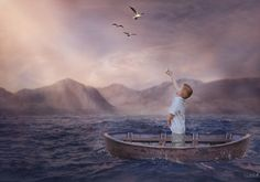 Smile with the rising sun - Little boy composite