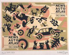 Copertina per il New York Auto Atlas, Fortunato Depero, 1930