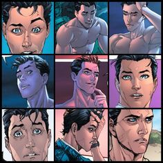 Jason Todd facial expressions done by the amazing Kenneth Rocafort.