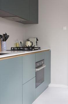 Kitchen Rules, Smart Kitchen, Green Kitchen, New Kitchen, Kitchen Decor, Small Modern Kitchens, Cool Kitchens, Apartment Kitchen, Küchen Design