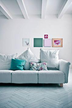 #sofa 11.59 by Saba Italia | #design Giuseppe Viganò #interiors #white