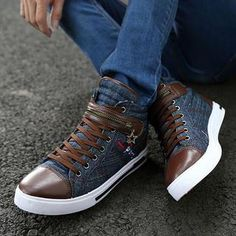 Buy 'MARTUCCI – Denim Paneled Sneakers' with Free International Shipping at YesStyle.com. Browse and shop for thousands of Asian fashion items from China and more!