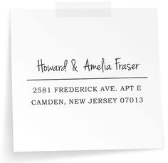 Custom Rubber Stamp  Eco Mount Address Stamp   Amelia by NoteTrunk, $19.95