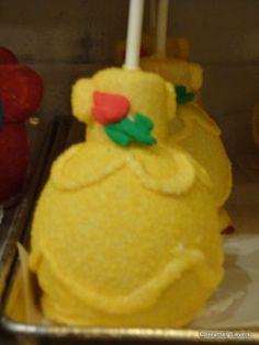 Dining in Disneyland: New Belle Caramel Apples   the disney food blog