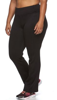 Plus Size FILA SPORT® Straight-Leg Fleece Workout Pants * More info could be found at the image url.