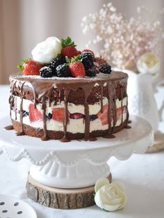 Beeren- schoko Torte