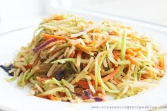 Clean Eating Recipe – Stir Fry Rainbow Slaw | Clean Eating Recipes