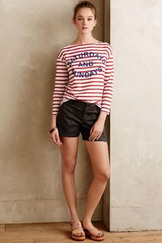 Striped Weekend Tee - anthropologie.com #anthrofave