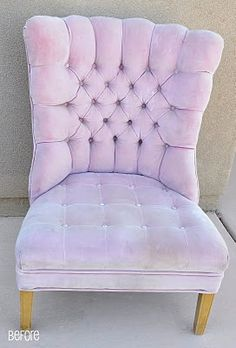 Re upholstering tufted chairs, super cool. http://www.allthingsthrifty.com/2010/05/pink-chair-is-almost-finished.html