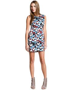 DVF mini dress. Yes please!
