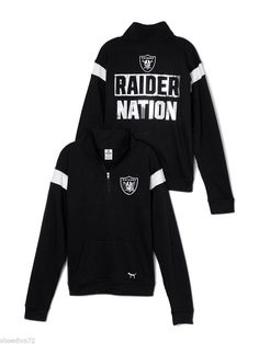 Victoria Secret Pink Oakland Raiders Bling Boyfriend Half Zip Sweatshirt S M?  in Clothing, Shoes & Accessories, Women's Clothing, Sweats & Hoodies | eBay