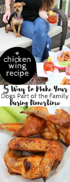 #DogsLoveNutrishDISH, #CollectiveBias, #AD, Spicy Honey Grilled Chicken Wing Recipe, 5 Tips to Allow Your Dogs to be Part of the Family During Dinnertime, summer grilling