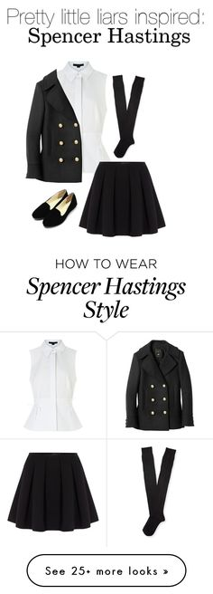 """""""Pretty little liars: Spencer Hastings!"""" by ryelime on Polyvore featuring Alexander Wang, Polo Ralph Lauren, Balmain, Aéropostale, women's clothing, women, female, woman, misses and juniors"""